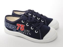 "Кеды Waldi ""75"" синие на шнурках 30-32"