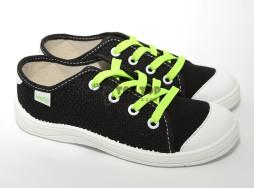 """Кеды Waldi """"W"""" черные на шнурках  30 31"""