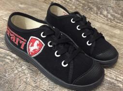 """Кеды Waldi """"Ferari"""" черные на шнурках 32"""